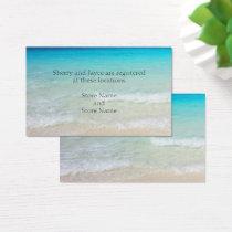 By the Sea Wedding Registry Enclosure Bulk Cards