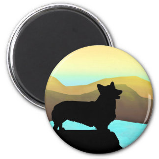 By The Sea Welsh Corgi Magnet