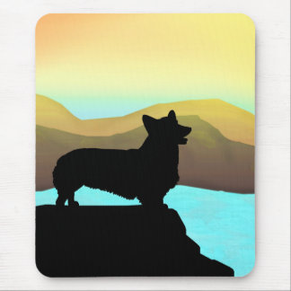 By The Sea Welsh Corgi Mouse Pad