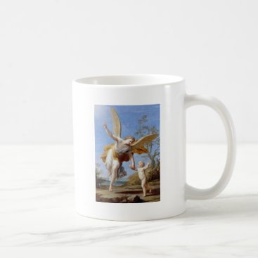 Beach Themed By the Seashore Angel and Child Coffee Mug
