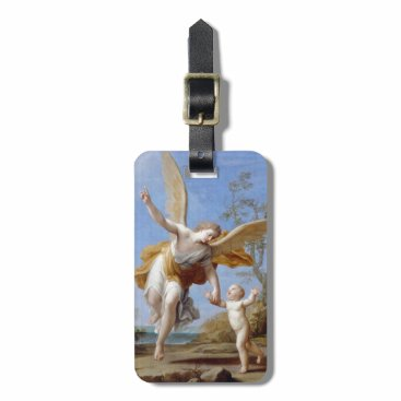 Beach Themed By the Seashore Angel and Child Luggage Tag