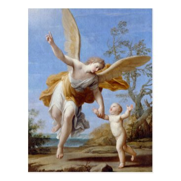 Beach Themed By the Seashore Angel and Child Postcard