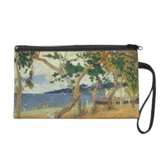 By the Seashore, Martinique, 1887 (oil on canvas) Wristlet Purse