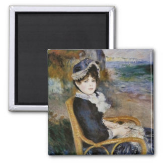 By the Seashore - Pierre-Auguste Renoir 2 Inch Square Magnet
