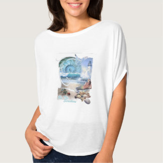 by the seashore woman's T-shirt on beach