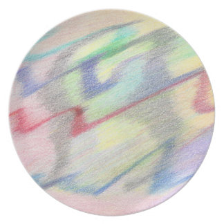 By the Seaside Colorfully Abstract Melamine Plate