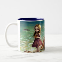 art, fantasy, beach, fairy, shell, shell fairy, beach fairy, ocean fairy, ocean nymph, nymph, still life, still lifes, still lives, still, life, stilllife, shells, seashell, sea, seashells, starfish, nautical, ocean, conch, conch shell, mermaid, mermaids, tiny, elf, eye, eyes, big eye, big eyed, jasmine, becket-griffith, becket, griffith, jasmine becket-griffith, jasmin, Mug with custom graphic design
