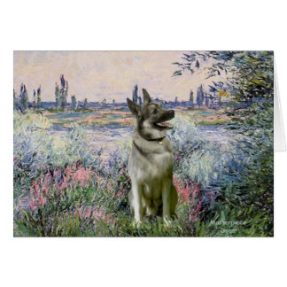 By the Seind - Norwiegian Elkhound Card