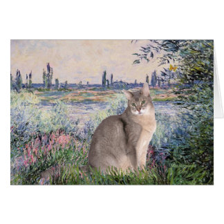 By the Seine - Abyssinian (blue 21) Card