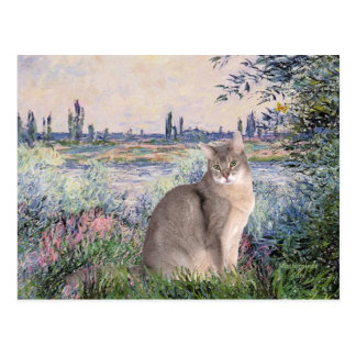 By the Seine - Abyssinian (blue 21) Postcard