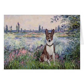 By the Seine - Basenji Card