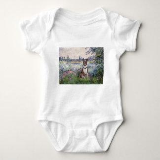 By the Seine - Basenji Infant Creeper