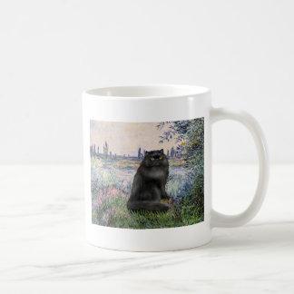 By the Seine - black Persian cat Mugs