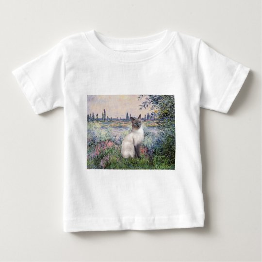 By the Seine - Blue Point Siamese cat Baby T-Shirt