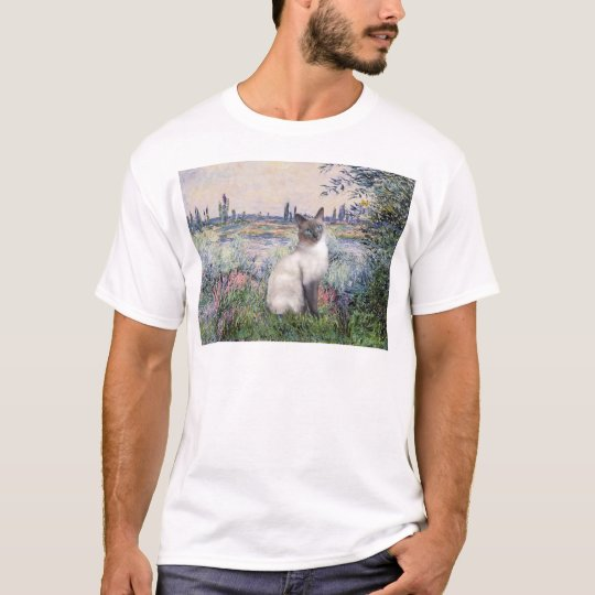 By the Seine - Blue Point Siamese cat T-Shirt
