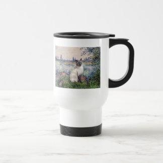 By the Seine - Blue Point Siamese cat Travel Mug