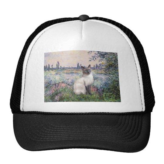 By the Seine - Blue Point Siamese cat Trucker Hat