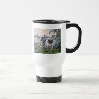 By the Seine - Blue Smoke Persian cat Coffee Mugs