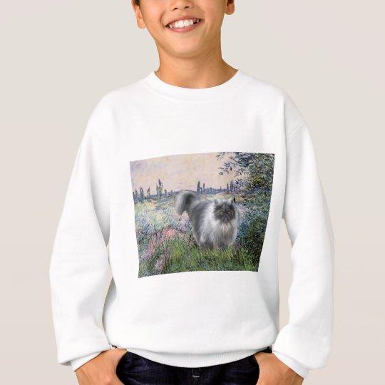 By the Seine - Blue Smoke Persian cat Sweatshirt