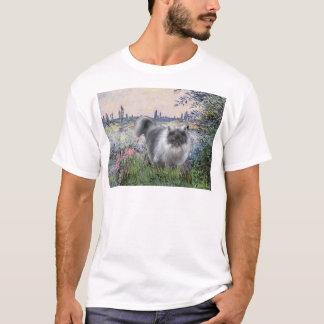 By the Seine - Blue Smoke Persian cat T-Shirt