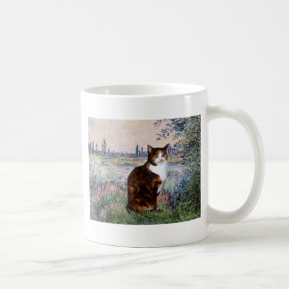 By the Seine - Calico cat Coffee Mugs
