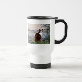 By the Seine - Calico cat Travel Mug