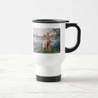 By the Seine - Cream Sphynx cat Mugs
