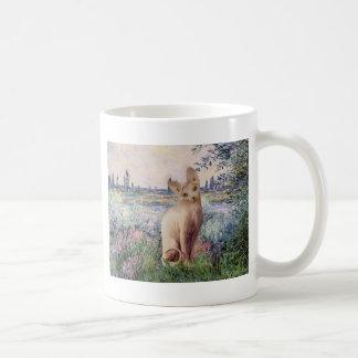 By the Seine - Cream Sphynx cat Coffee Mugs
