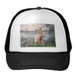 By the Seine - Cream Sphynx cat Trucker Hat