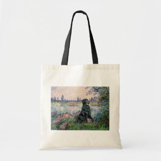 By the Seine - Flat Coated Retriever Budget Tote Bag