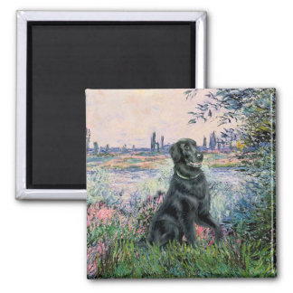 By the Seine - Flat Coated Retriever Magnet
