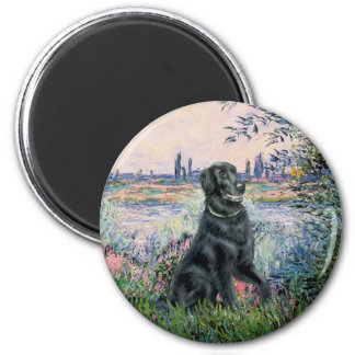 By the Seine - Flat Coated Retriever Refrigerator Magnets
