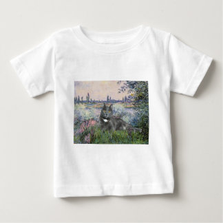 By the Seine- Grey cat Baby T-Shirt