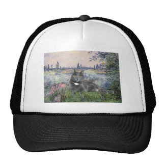 By the Seine- Grey cat Mesh Hat