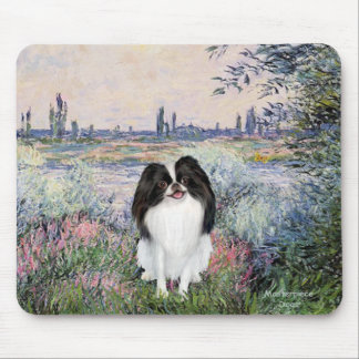 By the Seine - Japanese Chin 3 Mouse Pad