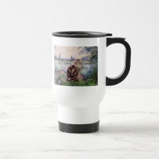 By the Seine - Maine Coon cat 10 Coffee Mug