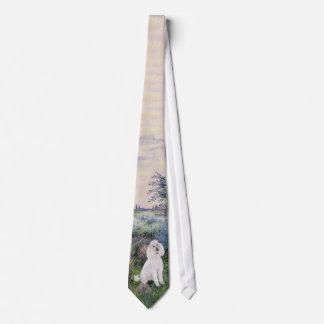 By the Seine (Monet) - Standard Poodle (W) Neck Tie