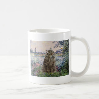 By the Seine - Norwegian Forest Cat Coffee Mug