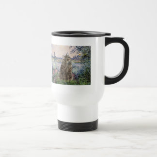 By the Seine - Norwegian Forest Cat Coffee Mugs