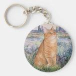 By the Seine - Orange Tabby Sh cat 46 Key Chain