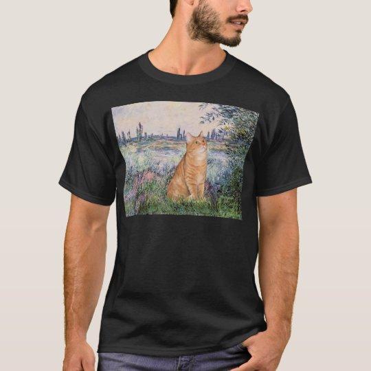By the Seine - Orange Tabby Sh cat 46 T-Shirt