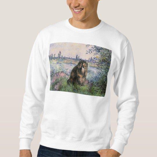 By the Seine - Persian Calico cat Sweatshirt