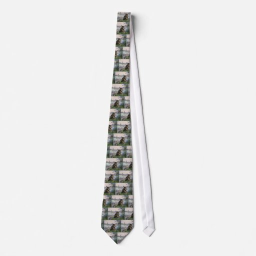 By the Seine - Persian Calico cat Tie