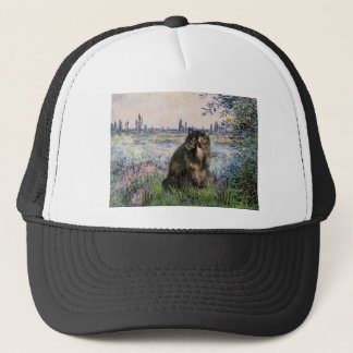 By the Seine - Persian Calico cat Trucker Hat