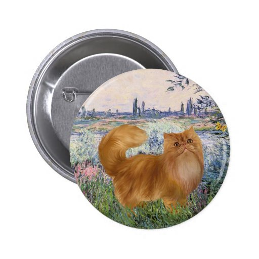 By the Seine - Red Persian cat Button