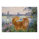 By the Seine - Red Persian cat Greeting Cards