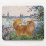 By the Seine - Red Persian cat Mouse Pad
