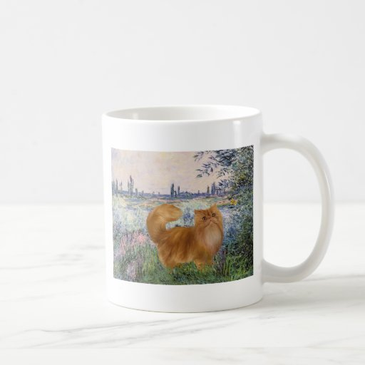 By the Seine - Red Persian cat Mug