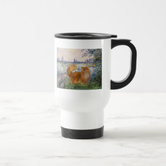 By the Seine - Red Persian cat Mugs