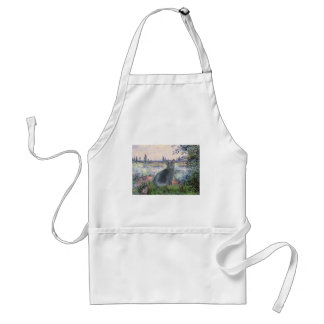 By The Seine- Russian Blue cat 2 Adult Apron